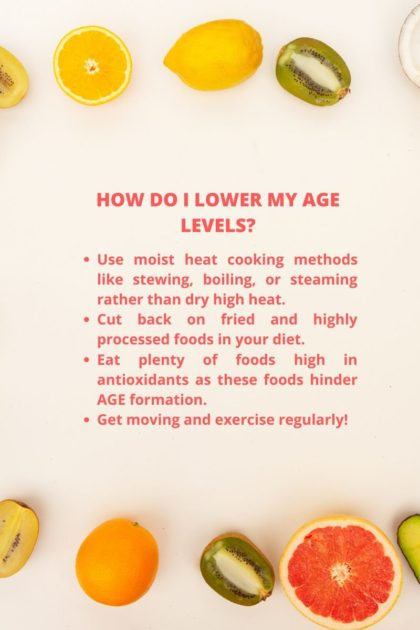 INFOGRAPHIC HOW DO I LOWER MY AGE LEVELS?